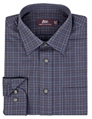 2in Shorter Pure Cotton Twill Poplin Checked Shirt