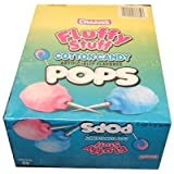 Charms Fluffy Stuff Cotton Candy Lollipops- (Pack of 48)