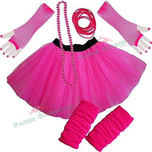 Ladies Neon Tutu Skirt 5 piece set (UK 8-14)