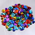 Quality and Value Acrylic Gemstones 100g Assorted Shapes And Sizes, Supplied By Kids B Crafty