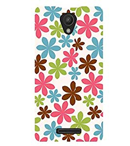 Printvisa Tricolour Floral Pattern Back Case Cover for Xiaomi Redmi 3S::Xiaomi Redmi 3::Xiaomi Redmi 3 (3rd Gen)