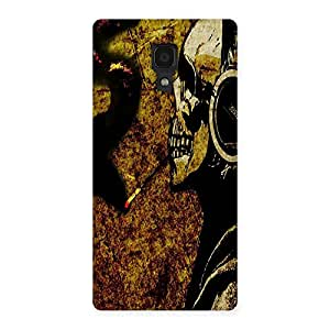 Ajay Enterprises Skull Smoking Dark Back Case Cover for Redmi 1S