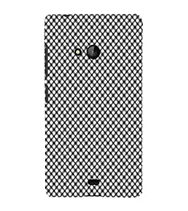 iFasho Design lines pattern and square pattern Back Case Cover for Nokia Lumia 540