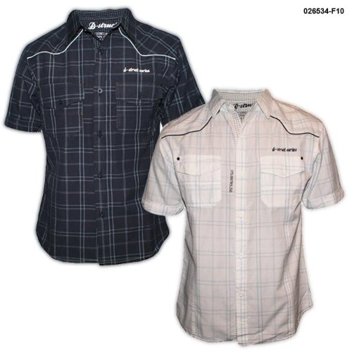 Mens D-Struct Short Sleeve Casual Check Shirt F10 Size Small