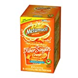 Metamucil Smooth Texture Sugar-Free Fiber Laxative/Fiber Supplement Powder Packets, Orange, .21-Ounce Packets in 30-Count (Pack of 2)
