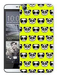 "Humor Gang Cute Pandas GreenPrinted Designer Mobile Back Cover For ""HTC DESIRE 826"" (3D, Matte, Premium Quality Snap On Case)..."