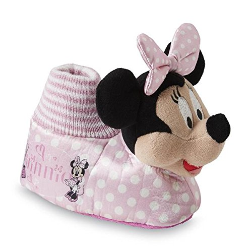 Disney Toddler Girl's Minnie Mouse Pink Socktop Slipper