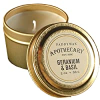 パディワックス(PADDYWAX) アポセカリー トラベルティン キャンドル(APOTHECARY Travel Tin Candle)ゼラニウム & バジル(GERANIUM & BASIL)