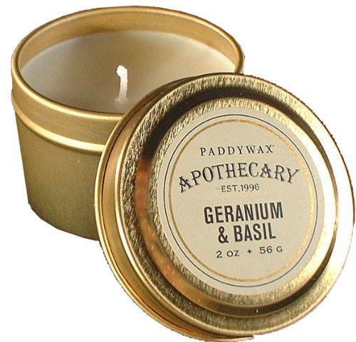 Geranium and Basil Candle Tin