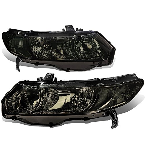 Honda Civic 8th Gen Coupe Pair of Smoked Lens Clear Corner Headlight (Fd2 Civic Fog Lights compare prices)