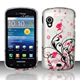 Pink Vines Design Snap On Protector Hard Case for Samsung Stratosphere (SCH-i405) + 4.5 inches Screen/Lens Cleaning Cloth