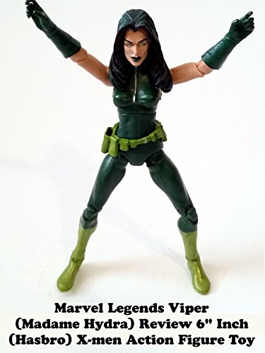"Marvel Legends VIPER (Madame Hydra) review 6"" inch (Hasbro) X-men Avengers action figure toy"