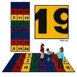 Flagship Carpets NBLO38 3 x 8ft Number Blocks Educational Rug