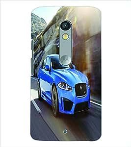 PRINTSWAG BLUE CAR Designer Back Cover Case for MOTOROLA MOTO X PLAY