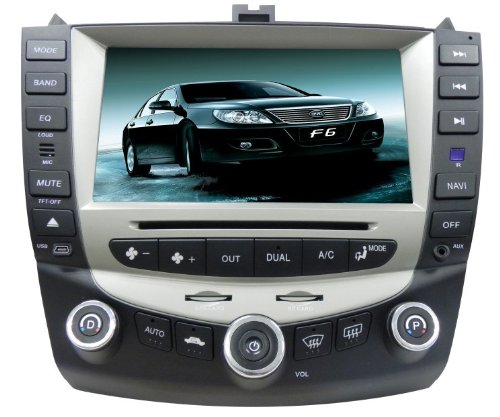 Pioeneer Intelligent In Dash Navigation For (2003-2007) Honda Accord 6-8 Inch Touchscreen Double-DIN Car DVD Player & In Dash Navigation System,Navigator,Build-In Bluetooth,Radio with RDS,Analog TV, AUX&USB, iPhone/iPod Controls,steering wheel control, rear view camera input image