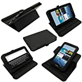 IGadgitz Black 360° Rotating Detachable PU Leather Case Cover for Samsung Galaxy Tab 2 P3100 P3110 7.0 3G & WiFi Android 4.0 Internet Tablet + Screen Protector