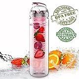 Limited Time Sale!! 27oz Tritan Fruit Infuser Water Bottle, Pink