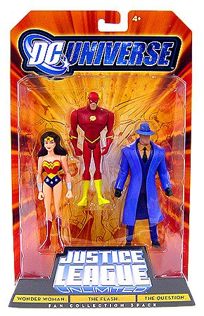 Buy Low Price Mattel DC Universe Justice League Unlimited Action Figure 3-Pack Wonder Woman, Flash and Question (B001FDUR0Y)
