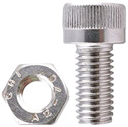 Stainless Steel Socket Head Cap Bolts With Nuts (5 mm x 35 mm , Pack of 50)