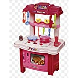 UDee Multi Dora Skill Kitchen Pretend Play Set Toy With Music And Lights For Girls