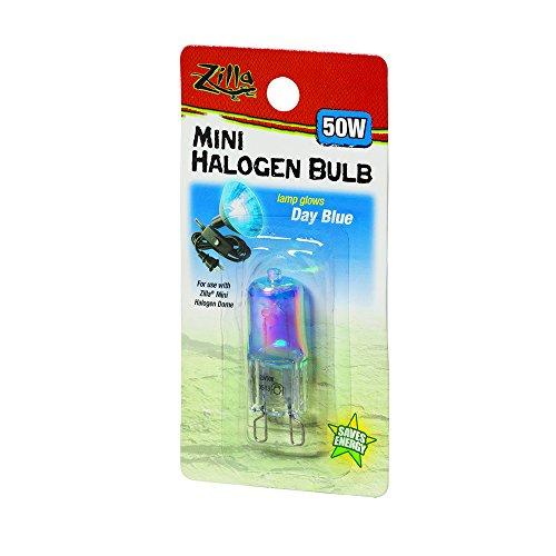 Zilla Reptile Terrarium Heat Lamps Mini Halogen Bulb, Day Blue, 50W (50 Watt Heat Lamp compare prices)