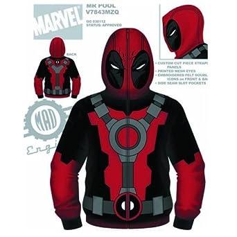 Deadpool Marvel Comics - Mr. Pool Costume Zip Hoodie (Large)