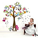 Asmi collection PVC Wall Stickers Wall Decals Kids Angel Tree