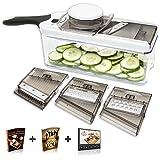 Adjustable Mandoline Slicer - 4 Blades - Vegetable Cutter, Peeler, Slicer, Grater & Julienne Slicer