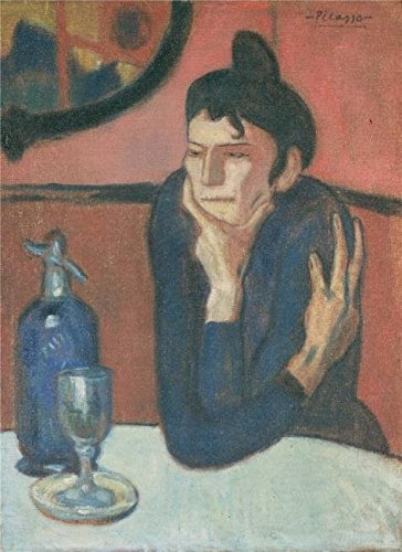 'The Absinthe Drinker,1901 By Pablo Picasso' Oil Painting, 24x33 Inch / 61x84 Cm ,printed On High Quality Polyster Canvas ,this High Definition Art Decorative Prints On Canvas Is Perfectly Suitalbe For Bar Decoration And Home Decoration And Gifts