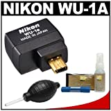 Nikon WU-1a Wireless Mobile Adapter Sends Images Directly to your iPhone or Android Smartphone + Nikon 3-Piece Lens Cleaning Kit for D3200 Digital SLR Camera