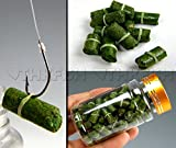 80pcs in 1 Bottle Green Grass Carp Baits Fishing Lures Fishing Baits