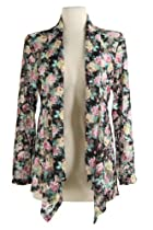 Jostar Lace Mid-cut Jacket with Long Sleeve, Print in Flower Design Yellow Color in X-Large Size