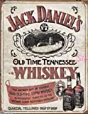 Large JACK DANIELS No7 SIPPIN WHISKEY Vintage Retro Metal Tin Wall Plaque Sign 1665
