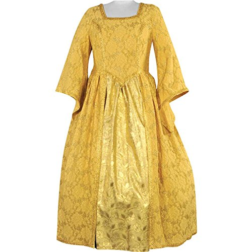 Women's Plus Size Renaissance Gold Theater Dress