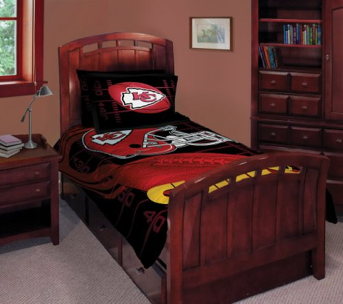 Kansas City Chiefs NFL Style Twin/Full 63x86 Comforter Set - NFL Football