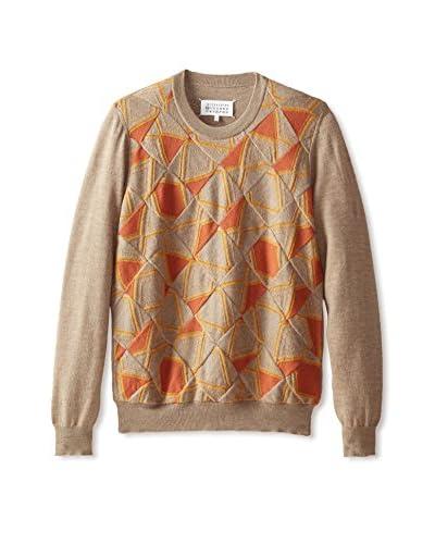 Maison Martin Margiela Men's Abstract Argyle Sweater