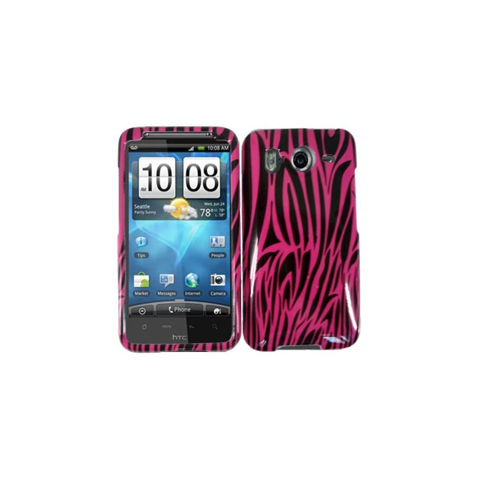 Pink Zebra Hard Case Cover for HTC Inspire 4G