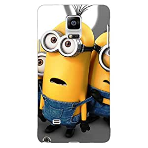 Jugaaduu Minions Back Cover Case For Samsung Galaxy Note 4