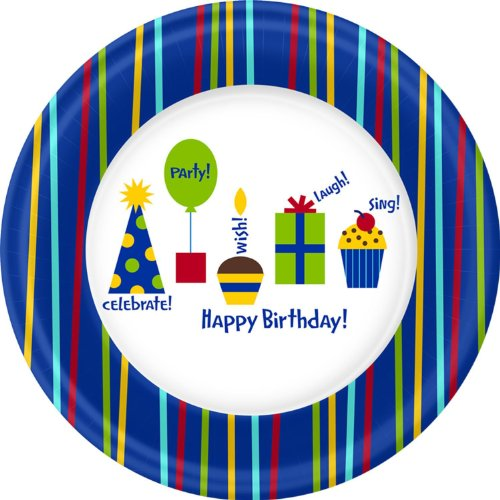 Shine Celebrate Dinner Plates (8 per package)