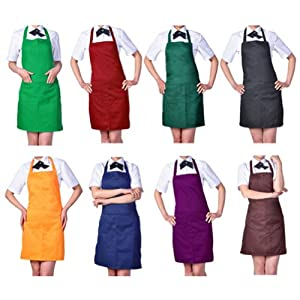 Women's Chefs Butchers Kitchen Cooking Craft Baking Apron with Front Pocket
