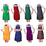 Womens Chefs Butchers Kitchen Cooking Craft Baking Apron with Front Pocket