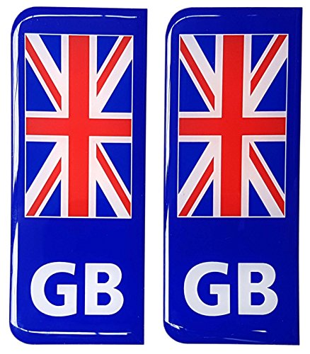 GB Targa adesivo decalcomania 3d bandiera Union Jack in resina Gel bombato