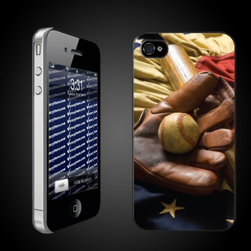Baseball Theme iPhone Hard Case Americas Game   CLEAR Protective for iPhone 4/4s