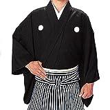 着物 キングサイズ仕立上り袴下きもの黒 2サイズ/L