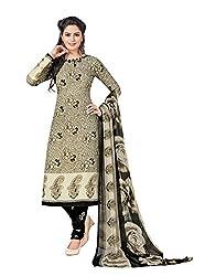 RK Fashion Womens Chiffon Un-Stitched Salwar Suit Dupatta Material ( Rajguru-Rimzim-9040-Grey-Free Size )
