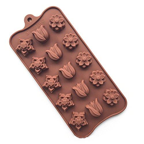 YOKIRIN® Stampo in Silicone Formi di Fiore Accessorio per la Decorazione Della Torta del Fondente di Cioccolato stampi Zucchero Torte Stampi Sapone(Colore Casual) - 4 Cutter Tubo Di Acciaio