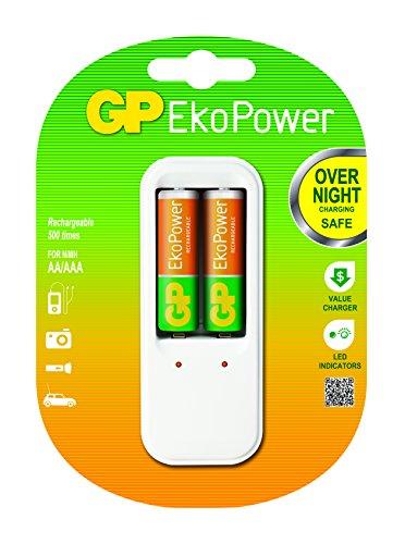GP Ekopower PB410 GSE130EC-2EPW2 Chargeur Ekopower PB410 + 2 Accus AA Ekopower Blanc