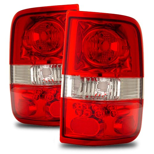Ford F-150 Red/Clear Tail Lights (Led Style)