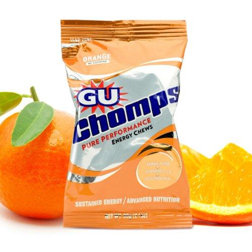 Gu Chomps Energy Chews, Orange, 16-Count