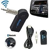 Santech - -Wireless Bluetooth 3.5mm AUX Audio Stereo Music Home Car Receiver Adapter Mic AU / Car Bluetooth Music...